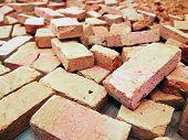 stock photo of brick block  - Broken bricks backgrounds block brick making brickwork building - JPG