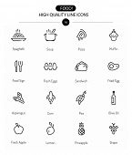picture of sweet food  - Food Icons Line Series two - JPG