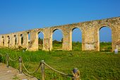 stock photo of aqueduct  - Ottoman Kamares Aqueduct  - JPG