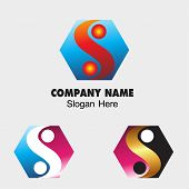 picture of ying-yang  - Ying yang sign icon with Hexagon symbol Harmony and balance symbol - JPG
