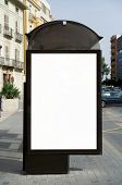 pic of bus-shelter  - Blank bus stop billboard - JPG