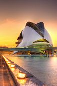 VALENCIA, SPAIN - MAY 4: Sunset scenery of Palau de Les Arts on May 4, 2009 in Valencia, Spain. The