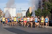 VALENCIA, SPAIN - NOVEMBER 15:  Start of the IX Vuelta a Pie Es Posible 5K road race on November 15,