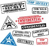pic of top-secret  - Various security rubber stamps  - JPG