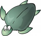 picture of googly-eyes  - Turtle Cute friendly cartoon marine creature hand - JPG
