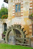 stock photo of hamlet  - A water wheel at the Queen - JPG