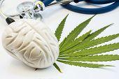 Cannabis, Marijuana Or Weed And Brain. Influence (positive And Negative) Of Smoking Marijuana On Hum poster
