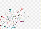 Colorful Bright Confetti Isolated On Transparent Background. Festive Vector Illustration. Colorful C poster