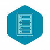 Security Safe Locker Icon. Outline Illustration Of Security Safe Locker Vector Icon For Web poster