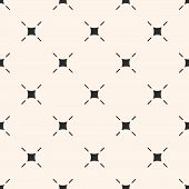 Vector Minimalist Background. Simple Modern Geometric Seamless Pattern With Thin Lines, Rounded Squa poster