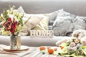Easter Breakfast In A Homely Interior poster