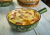 Cheesy Ham And Hash Brown Casserole poster