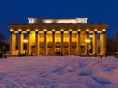 image of novosibirsk  - night view on novosibirsk opera and ballet theater - JPG