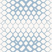 Vector Geometric Halftone Seamless Pattern With Mesh, Grid, Net, Curved Fading Lines. Light Blue And poster