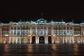 stock photo of winter palace  - Night view of Winter Palace in St - JPG