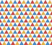Seamless Trapezium Geometric Pattern. Seamless Abstract Triangle Geometrical Background. Infinity Ge poster