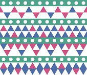 Seamless Geometric Pattern. Ethnic Seamless Pattern. Tribal Background. Seamless Abstract Triangle G poster