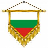 vector pennant with the flag of Bulgaria