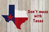 A Rustic Patriotic Texas Message poster