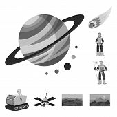 Isolated Object Of Universe And Travels  Icon. Collection Of Universe And Cosmic  Vector Icon For St poster
