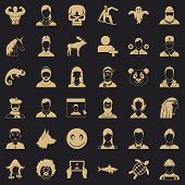 Privacy Icons Set. Simple Style Of 36 Privacy Vector Icons For Web For Any Design poster