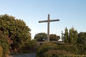stock photo of hades  - Old WWII German military cemetery at Maleme of Crete island in Greece - JPG