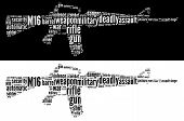 stock photo of m16  - M16 Rifle info - JPG