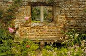 Wall  In The Medieval Castle In England In Summer Day poster