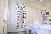 stock photo of intensive care unit  - Intensive care unit and trauma care unit of a hospital - JPG