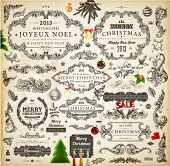 stock photo of illustration  - Christmas decoration collection  - JPG