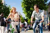 stock photo of bike path  - Couple  - JPG