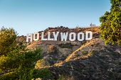 HOLLYWOOD CALIFORNIA - SEPTEMBER 24: The world famous landmark Hollywood Sign on September 24, 2012