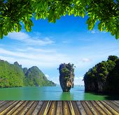 Постер, плакат: остров в Таиланде ko ТАПУ