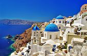 stock photo of landscape architecture  - amazing Santorini  - JPG