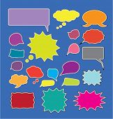 speech & chat bubbles icons set, vector