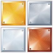 foto of bronze silver gold platinum  - Shine Metallic Signs - JPG