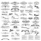 picture of special occasion  - illustration of set of vintage design elements for celebration - JPG