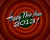 Einde van de film van het scherm - Happy New Year 2013 - Vector EPS10