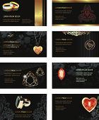 Vector Illustration Business Card for jewelry or beauty
