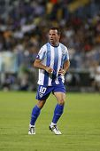 MALAGA, SPAIN. 19/09/2010. Apoeo the Malaga midfielder in action during the La Liga match between CF