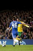 LONDON ENGLAND 23-11-2010.Chelsea's midfielder Josh McEachran in action during the UEFA Champions Le