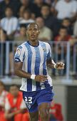 MALAGA, SPAIN. 19/09/2010. Salom�³n Rond�³n the Malaga forward in action during the La Liga matc