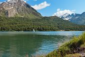 picture of engadine  - mountain landscape - JPG