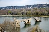stock photo of avignon  - Pont Saint - JPG