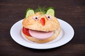stock photo of freaky  - Fun food for kids  - JPG