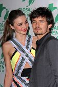 Miranda Kerr, Orlando Bloom at the Global Green USA's 10th Annual Pre-Oscar Party, Avalon, Hollywood