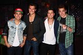 Carlos Roberto Pena Jr., James Maslow, Logan Henderson and Kendall Schmidt at the Big Time Rush Pres