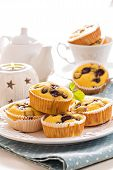 Gluten free muffins with grapes