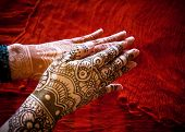 stock photo of mehendi  - Woman