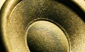 picture of subwoofer  - A Close up of an Audio Woofer - JPG